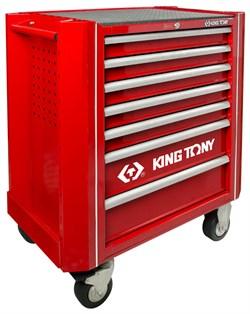 Тележка с комплектом инструмента, 7 полок, 13 ложементов, 286 предмета KING TONY 934A-010MRV KINGTONY - фото 57368