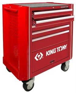 Тележка с комплектом инструмента, 5 полок, 9 ложементов, 161 предмета KING TONY 932A-005MR KINGTONY - фото 57369
