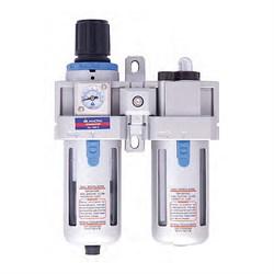 Фильтр-регулятор-лубрикатор, размер соединения 1/4 дюйма, производительность 750 л/мин, давление 0,5-8,5 бар мастак 690-2 MACTAK - фото 57522