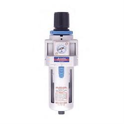 Фильтр-регулятор, размер соединения 1/4 дюйма, производительность 750 л/мин, давление 0,5-10 бар мастак 691-2 MACTAK - фото 57524