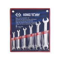 Набор рожковых ключей, 8-23 мм, 6 предметов KING TONY 1106MR