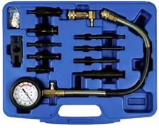 Компрессометр дизельный с насадками для легковых автомобилей мастак 120-11070с MACTAK