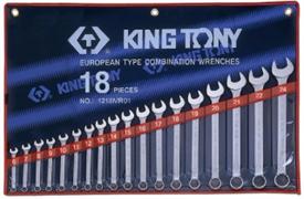 Набор комбинированных ключей,18 предметов 6-24 мм, king tony 1218mr01