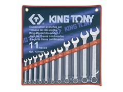 Набор комбинированных ключей,11 предметов 8-24 мм,  king tony 1211mr