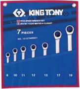 Набор комбинированных трещоточных ключей, 7 предметов king tony 12107mrn01