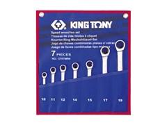 Набор комбинированных трещоточных ключей, 7 предметов king tony 12107mrn