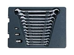 Набор трещоточных комбинированных ключей, 15 предметов king tony 9-10115mr