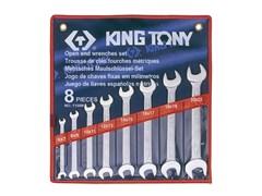 Набор рожковых ключей,  8 предметов king tony 1108mr