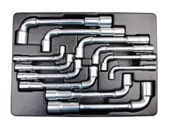 Набор торцевых ключей L-образных, 12 предметов king tony 9-1812mr