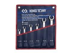 Набор разрезных ключей, 6 предметов king tony 1306mr