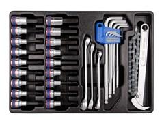 Набор торцевых насадок, шестигранники Г-образные и разрезные ключи, 31 предмет king tony 9-90131m