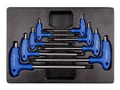 Набор L-образных ключей TORX, ложемент  KING TONY 9-22308PR