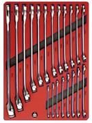 Набор комбинированных ключей, ложемент МАСТАК 5-21120