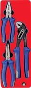 Набор пассатижей, плоскогубцев и бокорезов, ложемент МАСТАК 5-3003