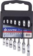 Набор комбинированных трещоточных укороченных ключей МАСТАК 0215-07H