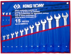 Набор комбинированных ключей KING TONY 1215MRN02