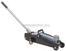 NORDBERG ДОМКРАТ N3202EC подкатной для автолюбителя 2т в кейсе, Н=135-385 мм