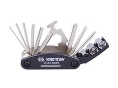 Набор инструментов для ремонта велосипедов KING TONY 20A16MR