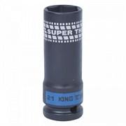 441521М KINGTONY ГОЛОВКА УДАРНАЯ 1/2  глубокая тонкостенная 21 мм