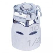 """Переходник для вставок (бит) 1/4"""" под ключ 10 мм KING TONY 373202H"""