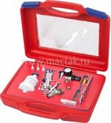 Краскопульт низкого давления, сопло 0,8 мм, мини, верхний бачок, кейс МАСТАК 675-008C