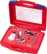 Краскопульт низкого давления, сопло 1,0 мм, мини, верхний бачок, кейс МАСТАК 675-010C