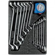 Набор накидных и рожковых ключей, рулетка, ложемент, 15 предметов KING TONY 9-90315MR