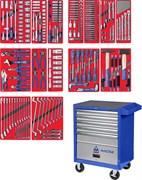 """Набор инструментов """"ЛИДЕР"""" в синей тележке, 270 предметов МАСТАК 52-05270B"""