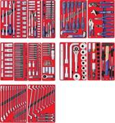 """Набор инструментов """"ПРОФИ"""" для тележки, 14 ложементов, 299 предметов МАСТАК 5-00299"""