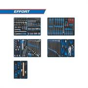 """Набор инструментов """"EFFORT"""" для тележки, 12 ложементов, 235 предметов KING TONY 934-235MRVD"""