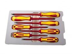 Набор отверток, диэлектрические, 7 предметов KING TONY 30607MR