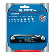 Набор Г-образных TORX, T9-T40, складные, 8 предметов KING TONY 20308PR
