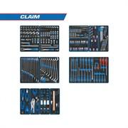 "Набор инструментов ""CLAIM"" для тележки, 13 ложементов, 286 предметов KING TONY 934-286MRVD"