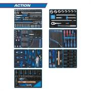 """Набор инструментов """"ACTION"""" для тележки, 15 ложементов, 327 предметов KING TONY 934-327MRVD"""