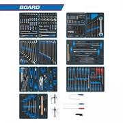 "Набор инструментов ""BOARD"" для тележки, 15 ложементов, 325 предметов KING TONY 934-325MRVD"