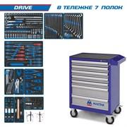 """Набор инструментов """"DRIVE"""" в синей тележке, 251 предмет KING TONY 934-251AMB"""