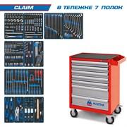 """Набор инструментов """"CLAIM"""" в красной тележке, 286 предметов KING TONY 934-286AMR"""