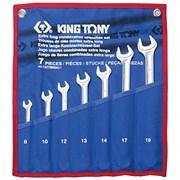 Набор комбинированных удлиненных ключей, 8-19 мм, чехол из теторона, 7 предметов KING TONY 12C7MRN01
