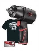 """Гайковерт пневматический ударный 1/2"""", 1627 Нм, система «EZ Grease», в комплекте футболка MIGHTY SEVEN NC-4255QH01"""