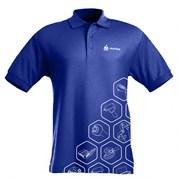 """Поло с логотипом бренда """"МАСТАК"""", размер L, синий/принт МАСТАК ADT-201807LP"""