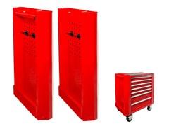Навесные панели для инструментальной тележки 87432-5В, 87434-7B, 5 предметов KING TONY 87430A