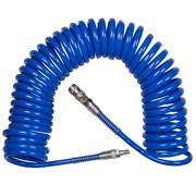 """Шланг пневматический спиральный высокого давления 8х12 мм, 15 м, резьба 1/4"""" KING TONY 79953-15"""