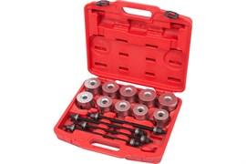 Набор оправок для монтажа и демонтажа сайлентблоков, 34-82 мм, кейс, 24 предмета