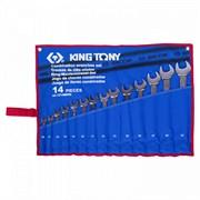 Набор комбинированных ключей, 10-32 мм, чехол из теторона, 14 предметов