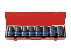 """Набор ударных торцевых головок 1"""""""", шестигранные, тонкостенные, 17-41 мм, 8 предметов"""