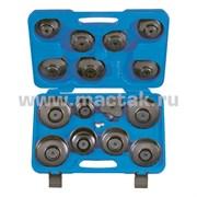 Набор съемников масляных фильтров, 66-108 мм, 16 предметов
