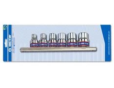 """Набор торцевых головок 3/8"""""""", TORX Е-стандарт, E8-E18, 6 предметов"""