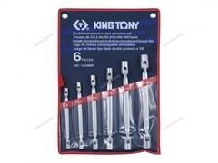 Набор торцевых ключей с шарниром, 8-19 мм, 6 предметов