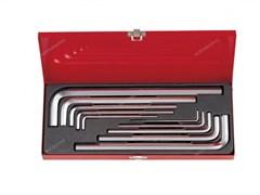 Набор Г-образных шестигранников 3-17 мм, длинные, 10 предметов, кейс