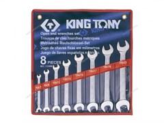 Набор рожковых ключей, 6-22 мм, 8 предметов